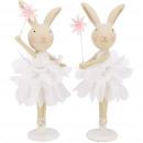 Poly rabbit Alina, H19cm, white